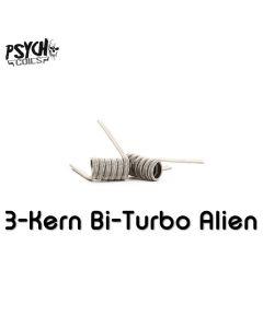 Psycho Coils - Handmade - 3 Kern Bi-Turbo Alien NiCr (Full NiCr - 0,14 Ohm Dual)